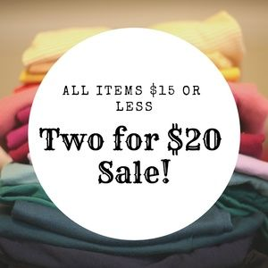❤2 for $20 sale!